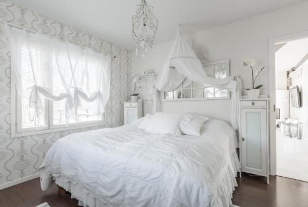 сочетание цветов в интерьере спальни белый в оформлении стен
