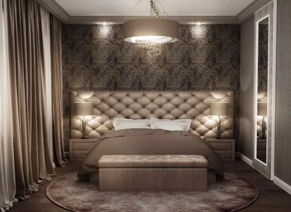 сочетание цветов в интерьере спальни оттенки коричневого
