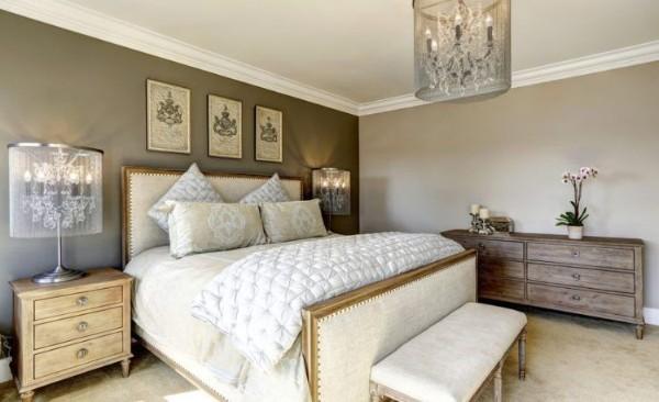 сочетание цветов в интерьере спальни оттенки серого
