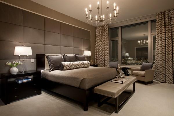 сочетание цветов в интерьере спальни оттенки шоколада