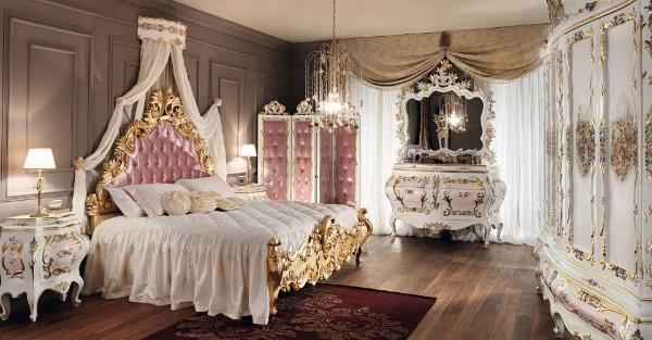 сочетание цветов в интерьере спальни розовый золотистый коричневый