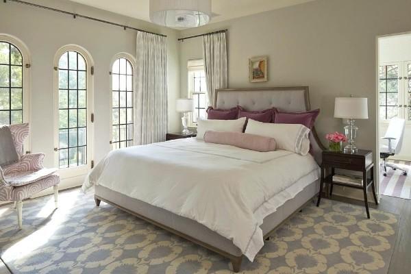 сочетание цветов в интерьере спальни серо-бежевый дизайн