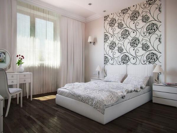 сочетание цветов в интерьере спальни серый бежевый белый
