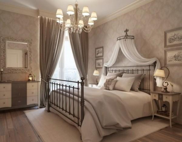 сочетание цветов в интерьере спальни светло-бежевый коричневый