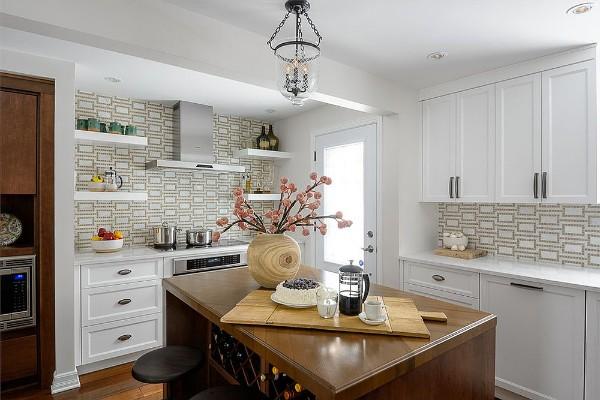 современные обои для кухни дизайн в виде кирпичей
