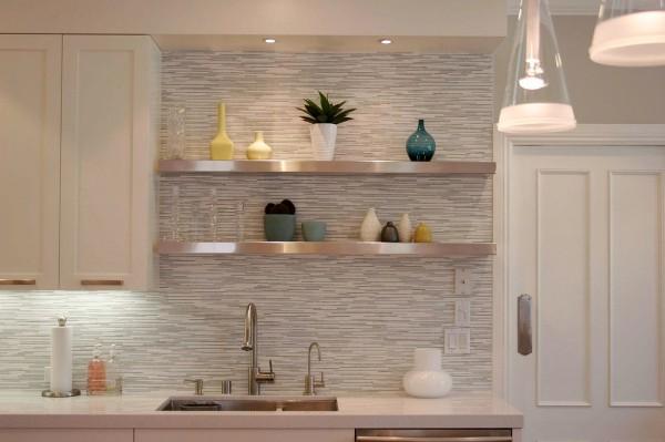современные обои для кухни в пастельных тонах