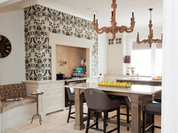 современные обои для кухни в стиле арт деко