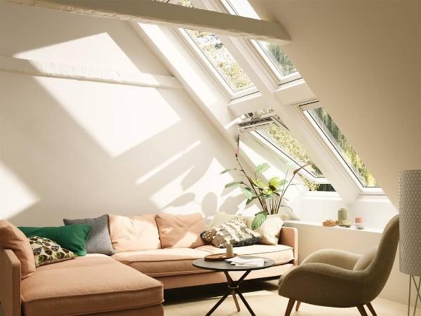 дизайн мансардного этажа большие окна