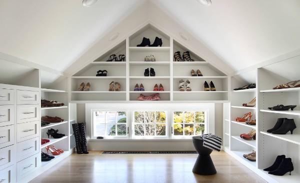 дизайн мансардного этажа гардеробная
