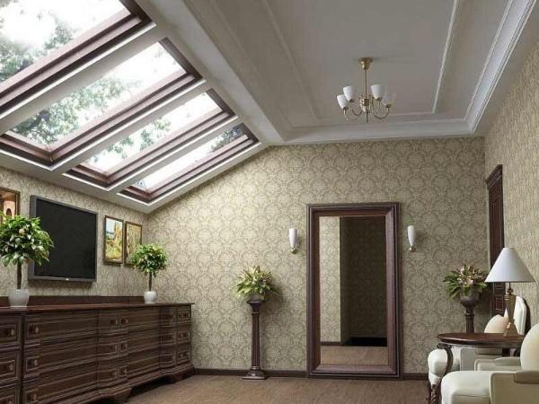 дизайн мансардного этажа гостиная в классическом стиле