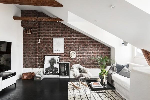 дизайн мансардного этажа гостиная в современном стиле