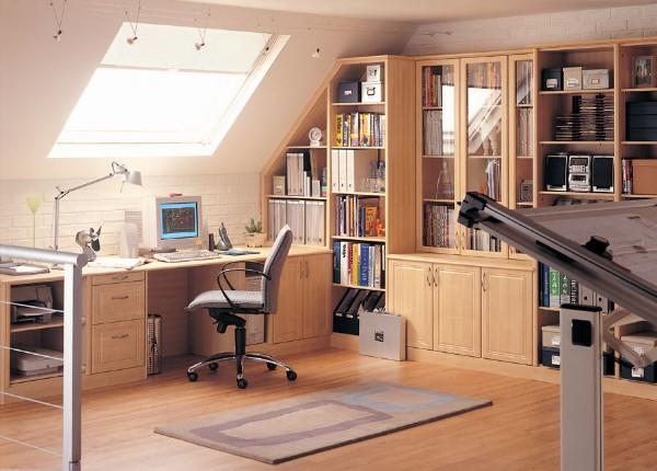 дизайн мансардного этажа комната для школьника