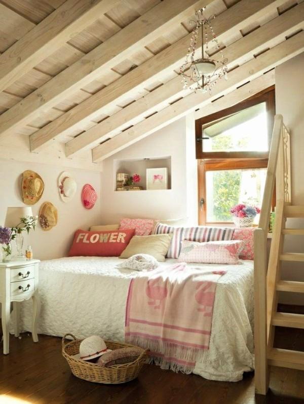 дизайн мансардного этажа милая спальня