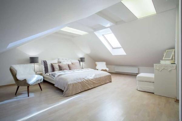 дизайн мансардного этажа спальня лофт