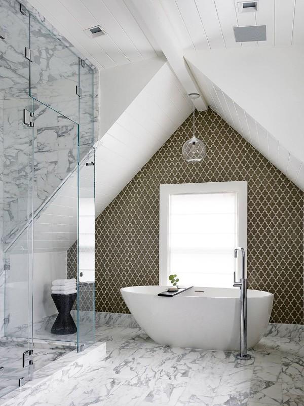 дизайн мансардного этажа ванная