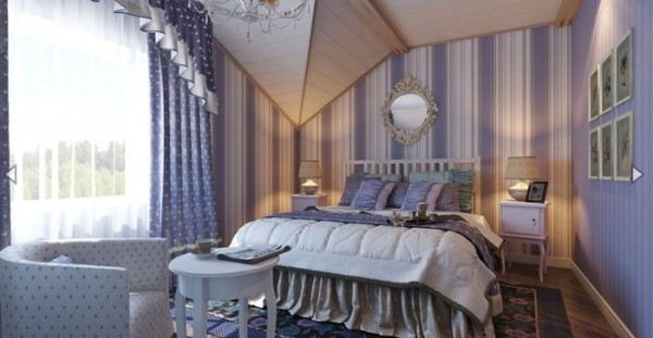дизайн спальни в мансардном этаже фото