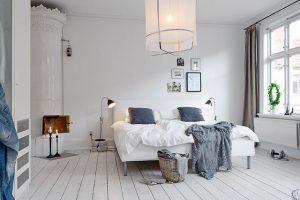 дизайн спальни в скандинавском стиле просторная комната