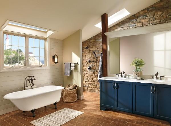 дизайн ванны мансардного этажа