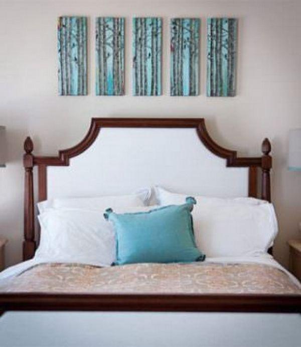фото над кроватью в спальне 2