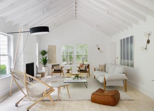 гостиная в мансарде скандинавский стиль в интерьере