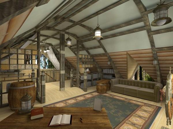 идеи дизайна мансардного этажа