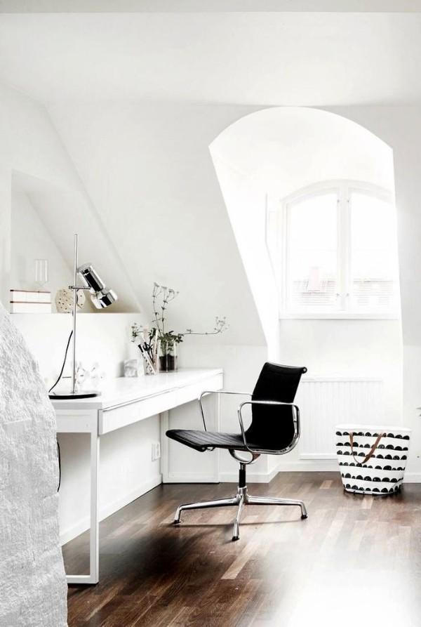 интерьер небольшого рабочего кабинета дизайн мансардного этажа