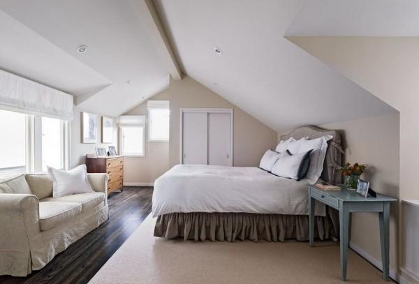 интерьер спальни дизайн мансардного этажа