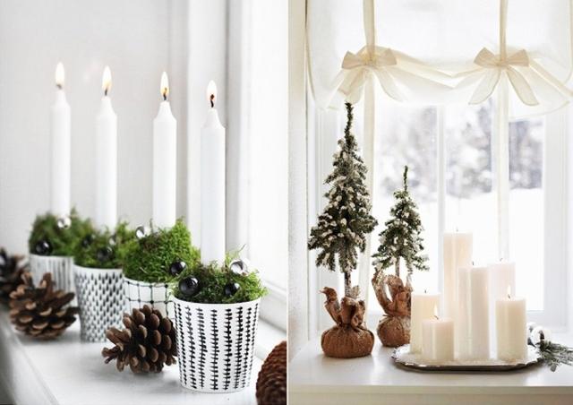 как красиво украсить окна на новый год фото
