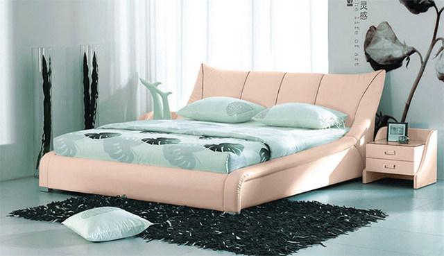 кровать в спальню мятная