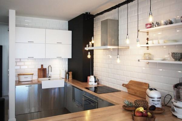 кухня в скандинавском стиле фото интерьер