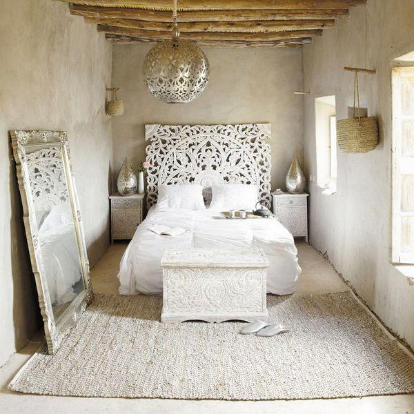 люстра в спальне в скандинавском стиле фото