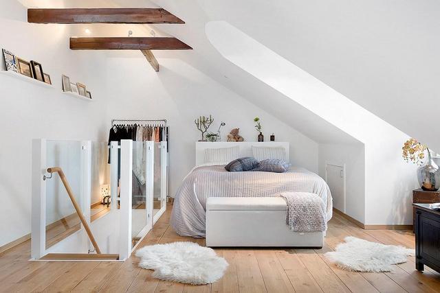 маленькая спальня в скандинавском стиле фото
