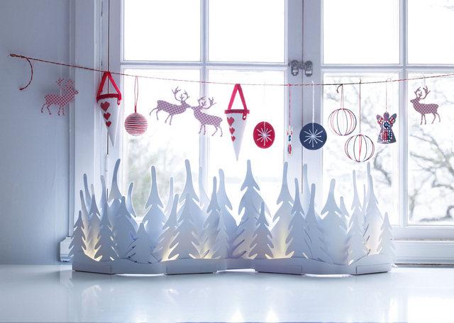 оформление окна к новому году из бумаги фото