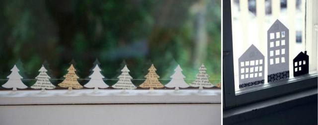 оформление окна к новому году своими руками фото