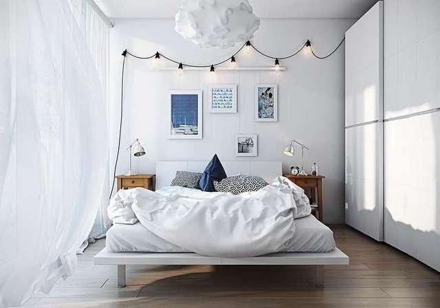 оригинальный дизайн люстры для интерьера спальни в скандинавском стиле