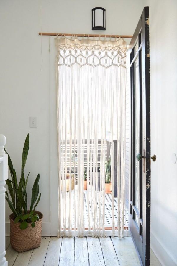 шторы нити в интерьере офомление дверного проёма