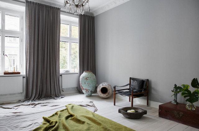 шторы в скандинавском стиле в спальню