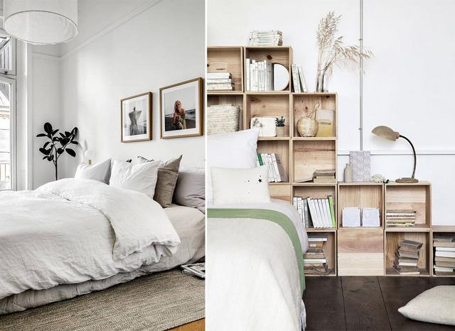 скандинавский стиль в интерьере спальни фото