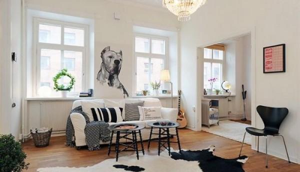 скандинавский стиль в интерьере гостиной напольное покрытие светлое дерево