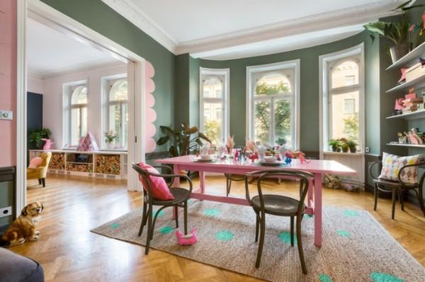 скандинавский стиль в интерьере гостиной нетипичные оттенки