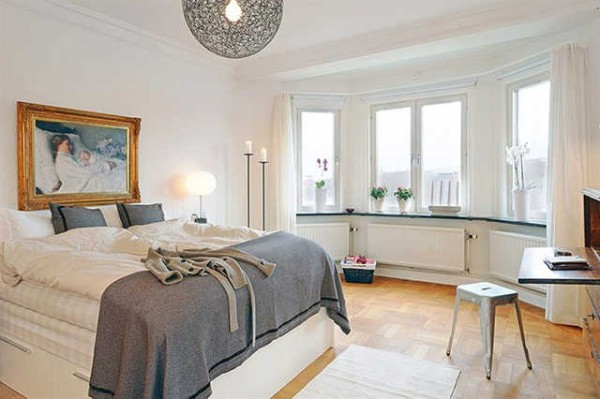 скандинавский стиль в интерьере комнаты