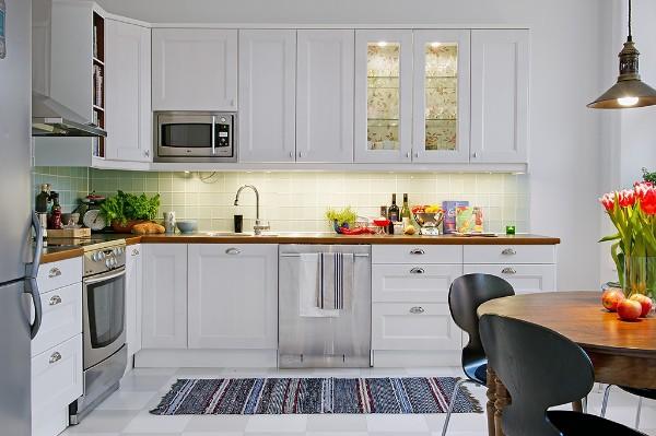 скандинавский стиль в интерьере кухни 18 кв.м.