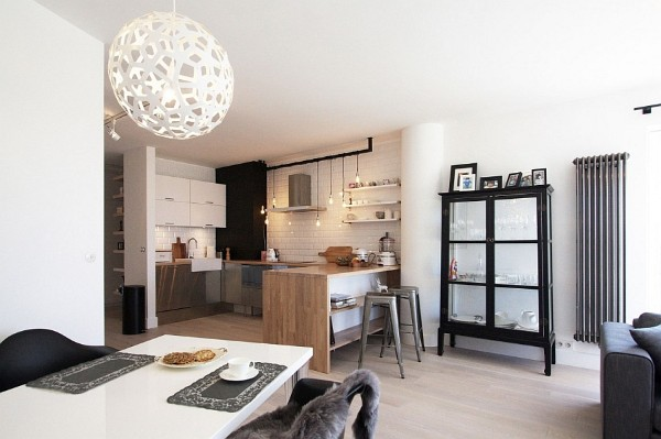 скандинавский стиль в интерьере кухни гостиной
