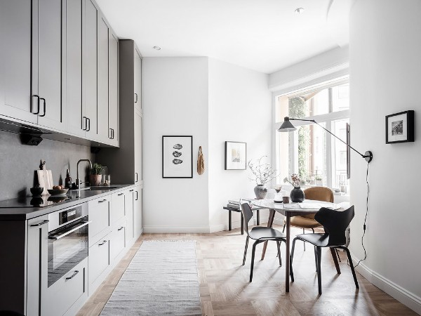 скандинавский стиль в интерьере кухни интересный дизайн