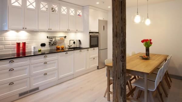 скандинавский стиль в интерьере кухни креативная барная стойка