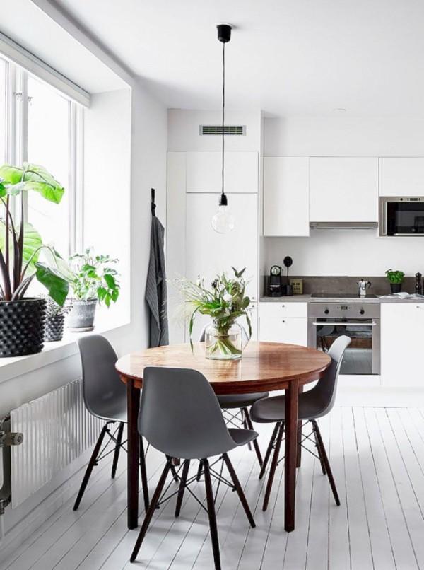 скандинавский стиль в интерьере кухни креативный интерьер
