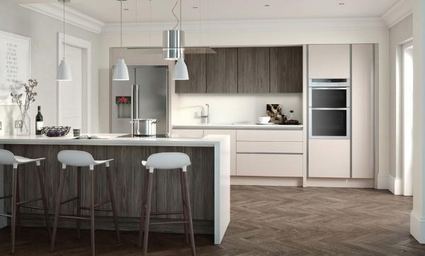 скандинавский стиль в интерьере кухни с барной стойкой