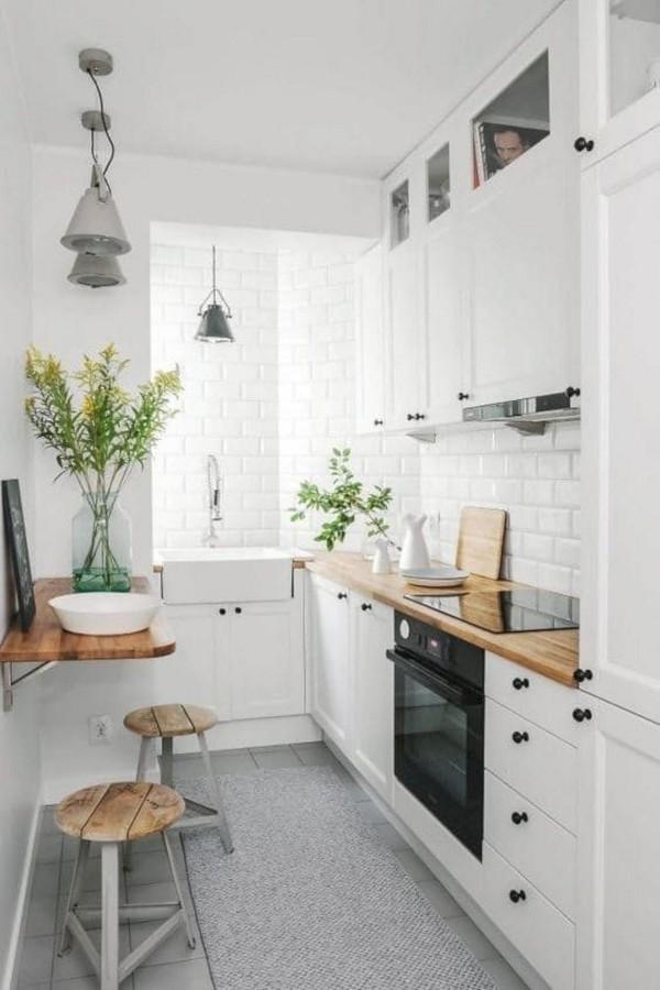 скандинавский стиль в интерьере маленькой кухни