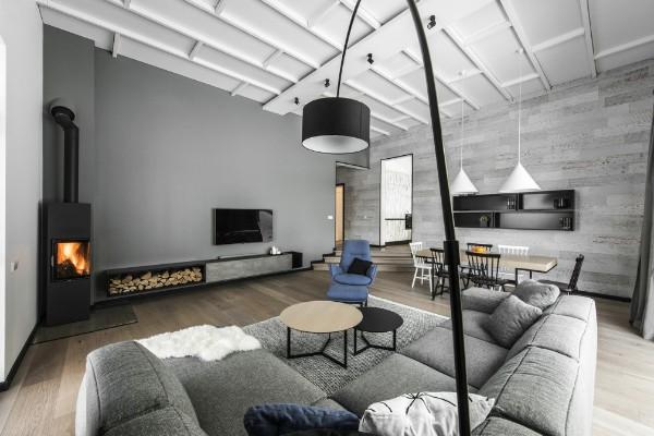 скандинавский стиль в интерьере серый цвета