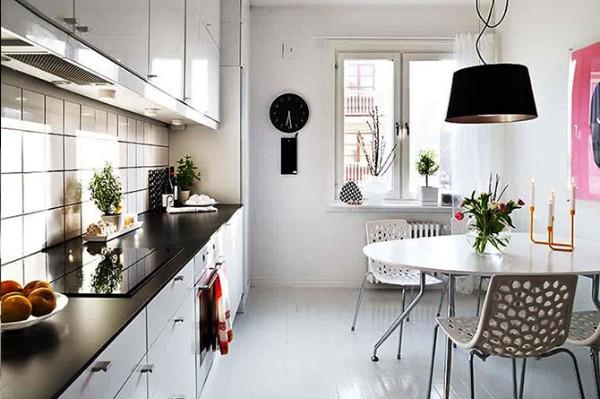 скандинавский стиль в интерьере стильная кухня